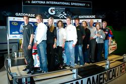Champion's breakfast: 2011 Daytona 500 winner Trevor Bayne, Wood Brothers Racing Ford with the Wood family