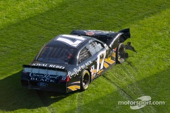 Matt Kenseth, Roush Fenway Racing Ford crashes