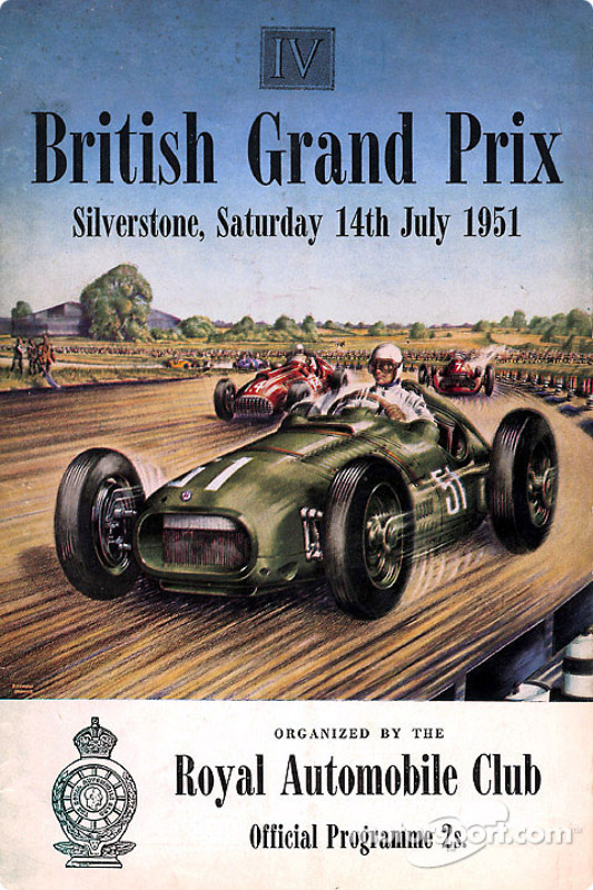 Poster for the 1951 British GP