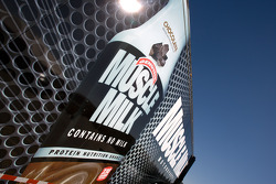 Muscle Milk Aston Martin Racing transporter