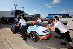 #60 Gulf AMR Middle East Aston Martin Vantage at technical inspection