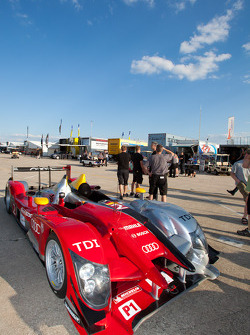 #2 Audi Sport Team Joest Audi R15+ at technical inspection