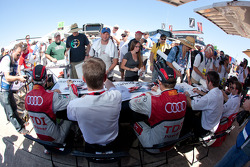 Rinaldo Capello, Tom Kristensen, Allan McNish, Timo Bernhard, Romain Dumas and Mike Rockenfeller