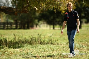 Sebastian Vettel, visits the Australian countryside