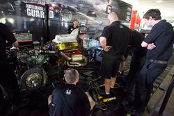 Panther Racing team members at work
