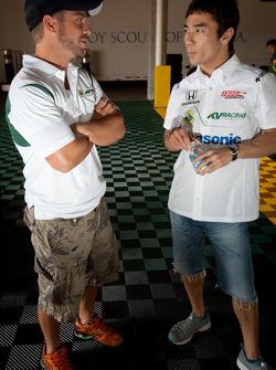 E.J. Viso, KV Racing Technology-Lotus and Takuma Sato, KV Racing Technology-Lotus