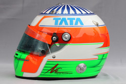 Helmet of Narain Karthikeyan, Hispania Racing Team, HRT