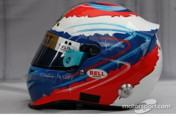 Helmet of Vitaly Petrov, Lotus Renalut F1 Team