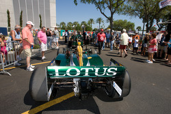 Car of Takuma Sato, KV Racing Technology-Lotus taken the pitlane
