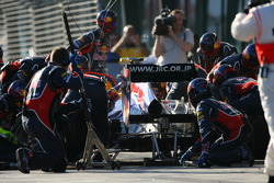 Mark Webber, Red Bull Racing pit stop