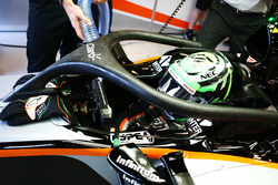 Nico Hulkenberg, Sahara Force India F1 VJM09 with the Halo cockpit cover