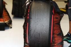 Mercedes AMG F1 Pirelli tyre in a blanket