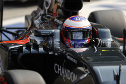 Jenson Button, McLaren in the pit lane