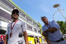 Fernando Alonso, McLaren Honda and Carlos Sainz