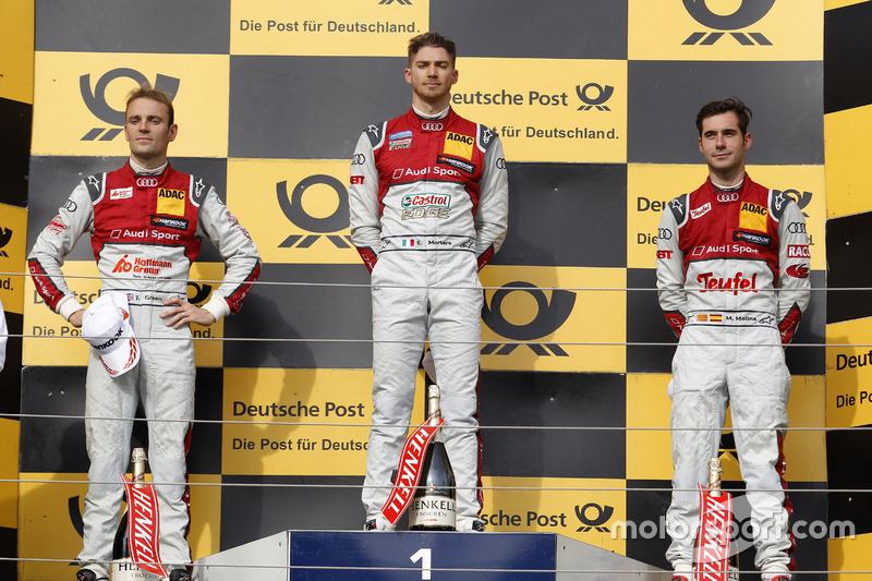 1. Edoardo Mortara, 2. Jamie Green, 3. Miguel Molina