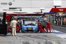 Boxenstopp: Edoardo Mortara, Audi Sport Team Abt Sportsline, Audi RS 5 DTM