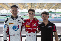 GP3 Foto - Charles Leclerc, ART Grand Prix; Alexander Albon, ART Grand Prix e Nyck De Vries, ART Grand Prix