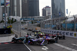 Mitch Evans, Jaguar Racing; Jose Maria Lopez, DS Virgin Racing