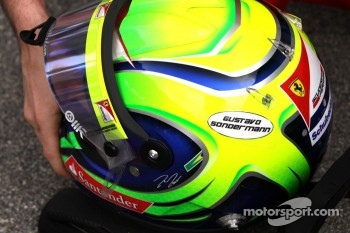Felipe Massa, Scuderia Ferrari with his friends name on his helmet who passed away