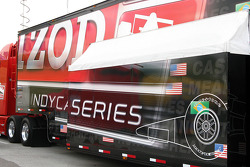 The Indycar Series transporter