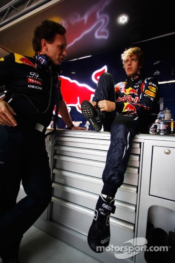 Christian Horner and Sebastian Vettel, Red Bull Racing