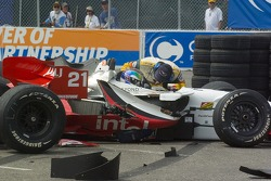 Start: Justin Wilson tries to recover