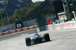 Session stopped: Paul Tracy lost his rear wing