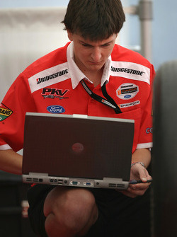 PKV Racing crew member at work