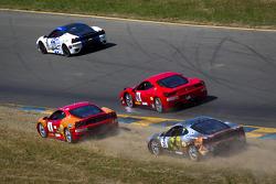 Start: #59 Algar Ferrari Ferrari 458 Challenge: John Farano, #26 Ferrari of Ft. Lauderdale Ferrari F430 Challenge: Juan Hinestrosa and #4 Ferrari of Silicon Valley Ferrari F430 Challenge: Chris Ruud and #31 Ferrari of Ontario Ferrari F430 Challenge: Damon