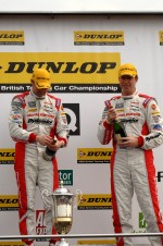 Honda Racing Duo Gordon Shedden and Matt Neal on the podium