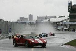 Pace car leads the field on pace laps