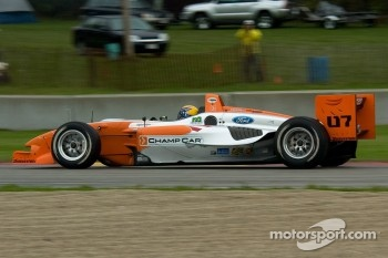 Roberto Moreno does a run with the new 2007 Panoz DP01 Champ Car