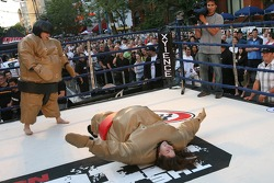 John Street party: sumo wrestling for fun and profit