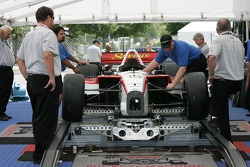 Dale Coyne Racing car at tech inspection