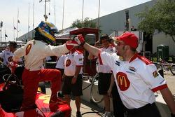 Sébastien Bourdais celebrates provisional pole