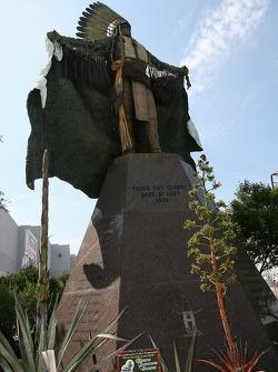 Statue at Reliant Park