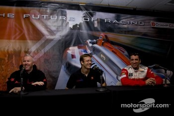 Paul Tracy, Sébastien Bourdais and Justin Wilson