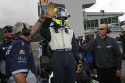 Pole winner Tristan Gommendy celebrates with this team