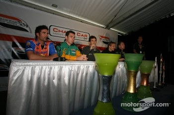 Press conference: Alex Tagliani, Simon Pagenaud, Tristan Gommendy, Sbastien Bourdais and Robert Doornbos
