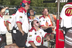 McDonalds team monitors Sebastian's laps