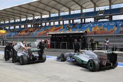 Michael Schumacher, Mercedes GP F1 Team, Nico Rosberg, Mercedes GP F1 Team