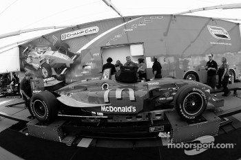 Newman/Haas/Lanigan Racing car of Sébastien Bourdais at technical inspection