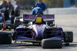 Dale Coyne Racing car sits on pit lane