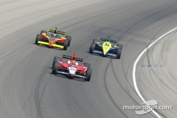 Dan Wheldon, Scott Sharp and Vitor Meira