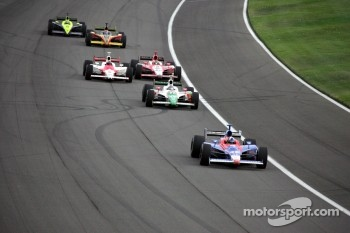 Dario Franchitti leads the field