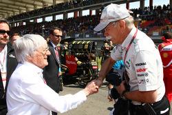 Bernie Ecclestone with Dr. Dieter Zetsche, Chairman of Daimler