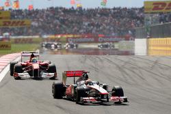 Lewis Hamilton, McLaren Mercedes, MP4-26 leads Felipe Massa, Scuderia Ferrari, F150