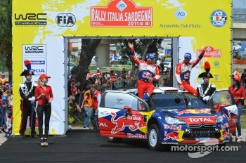 Podium: winners Sbastien Loeb and Daniel Elena