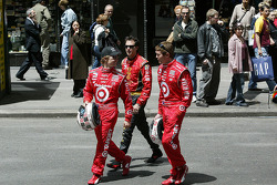 Ryan Briscoe, Bryan Herta and Scott Dixon