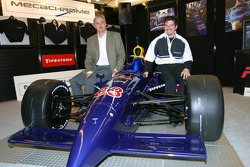 Patrick Carpentier and Eddie Cheever present the Red Bull Cheever Toyota Dallara at the Montréal Auto Show